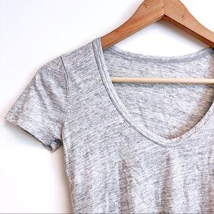 J Crew Vintage Cotton Metallic T-shirt XXXS